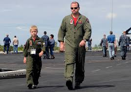 military father and child